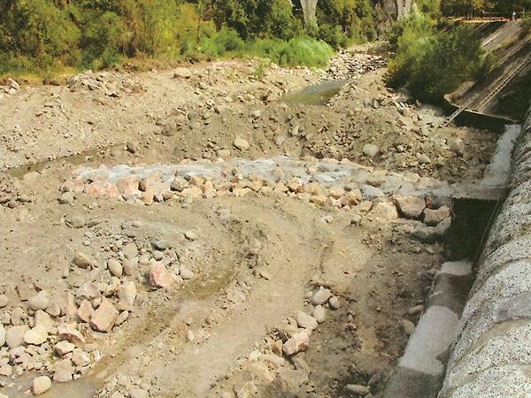 Restauration Digue et canal Amélie les Bains