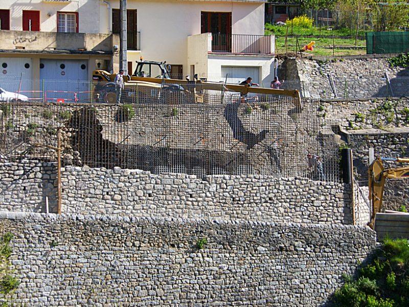 Mur soutènement du Verger